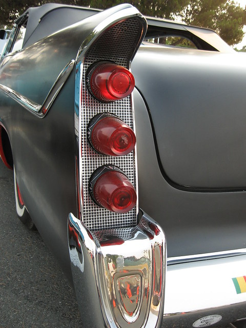 1956 DeSoto Rat Rod Tail Lights  Friday Night Car Show in