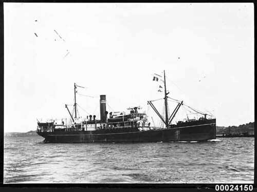 MAKAMBO of Burns Philp & Co at anchor