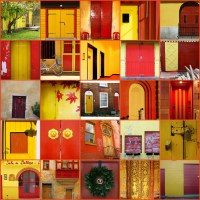 red door on yellow - yellow door on red :-) - a photo on ...