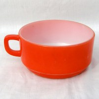 Vintage Fire King Red Soup Bowl