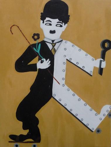 Chaplin painting