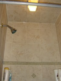 shower stall ceiling and new light | Flickr - Photo Sharing!