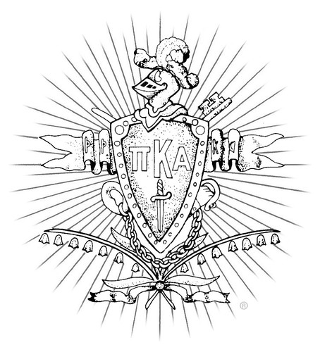 Pike Coat of Arms (B&W)