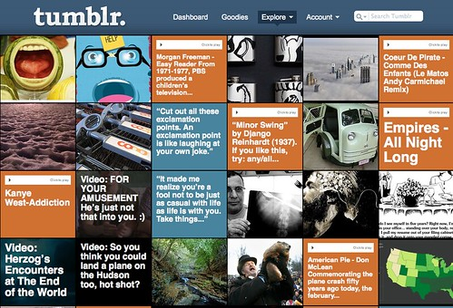 Tumblr user dashboard