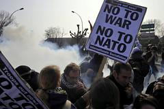 NATO protest Strasbourg 4-4-09