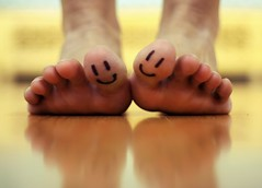 You make my toes smile =D