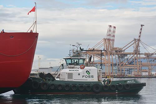 Mikioi at bow Polar Star