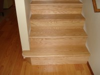 Oak Stairs | Replaced Pergo flooring with real wood ...
