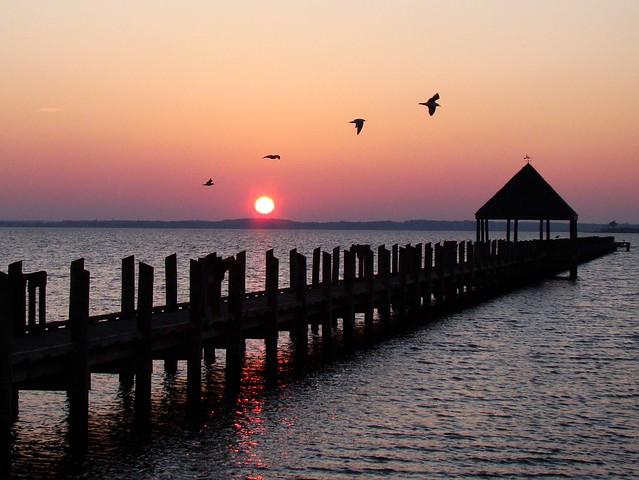 sunset at northside park ocean city md  Flickr  Photo Sharing