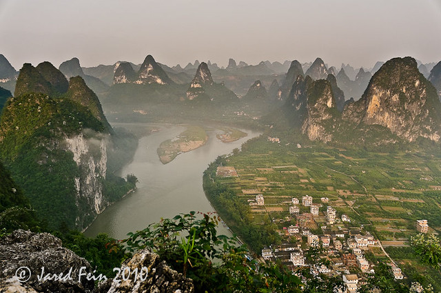 Overlooking the Karst Mountains, China