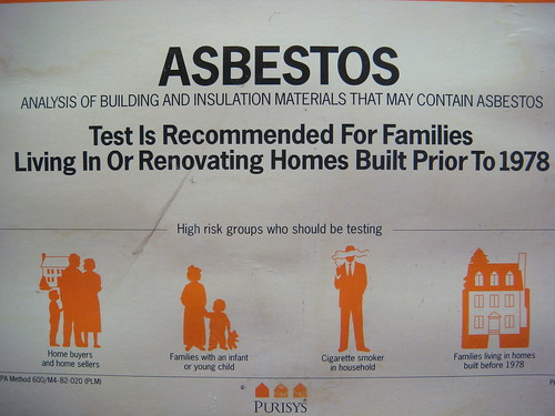 Do-It-Yourself Home Asbestos Test Kit Label Close-up
