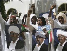 Sudanese masses demonstrate against imperialist plot to overthrow the state. The ICC has issued a warrant for the arrest of President Omar al-Bashir. by Pan-African News Wire File Photos