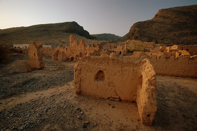 Ruined Omani village