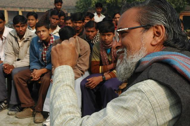 Prof Anil Gupta, the innovation man of India. Mothihari, Bihar