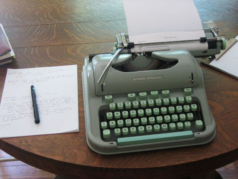All you do is sit down at a typewriter and open a vein