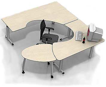 Ultimate surround desk  Ergonomic office furniture The