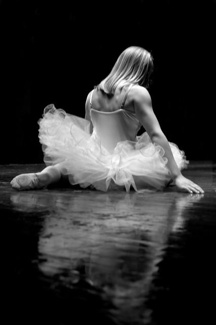 Ballerina Reflection B&W