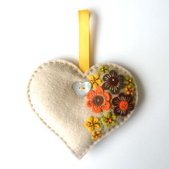 LAVENDER SACHET WITH FREEFORM EMBROIDERY