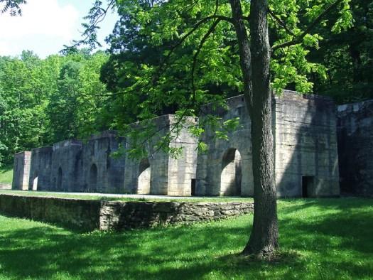 lime kilns at Canoe Creek
