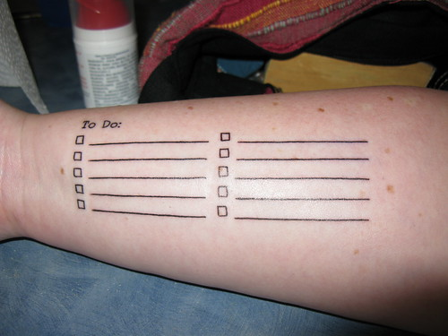 """My """"To Do"""" List: Yay for functional tattoos!"""