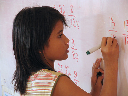 Photo: maths in classroom