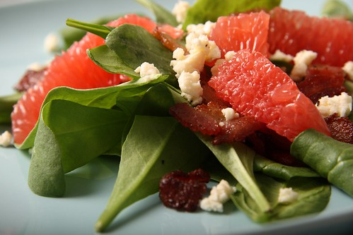 Citrus and bacon salad