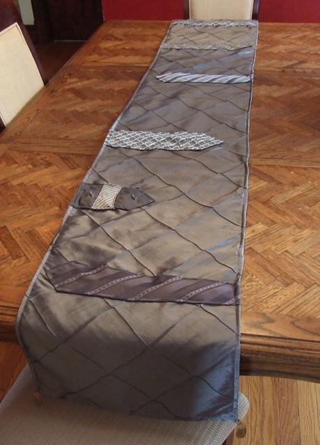 vintage necktie reversible table runner