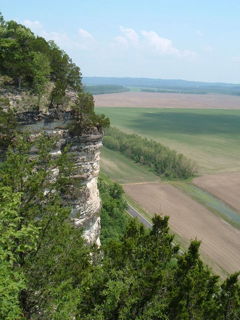 Limestone Cliff Overlooking Valley of Missouri River