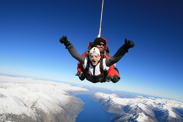 Freefalling over queenstown