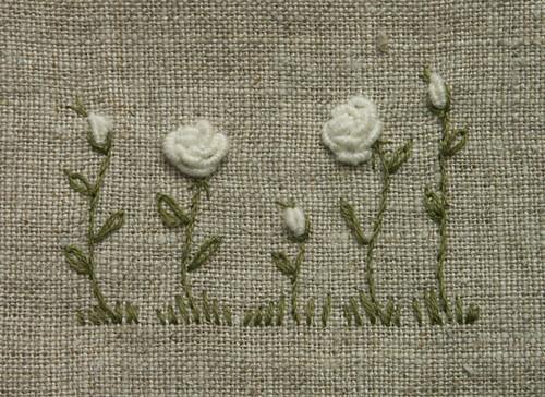 bullion  knot roses