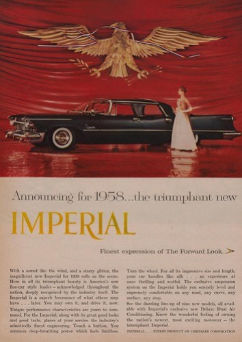 Announcing for 1958...the Triumphant New Imperial