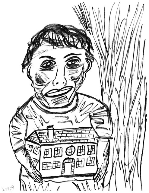 House Tree Person Drawing House with treeboth now Images