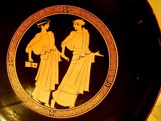 Shopping Day; Metropolitan Museum of Art, Women Conversing, Attic Greek, ca. 460-450 BC, Painter of Bologna