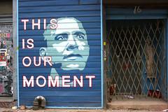 Barak Obama painted in Williamsburg, Brooklyn