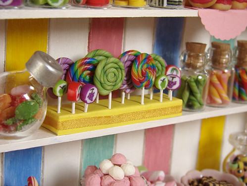 Miniature Food - Dollhouse Candy Cabinet #4