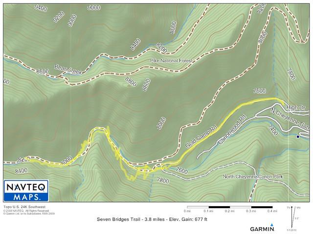 Seven Bridges Trail Map