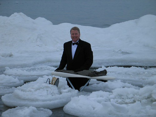 Extreme Ironing in the Ice
