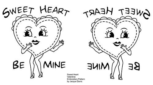 Sweet Heart Valentine Embroidery Pattern