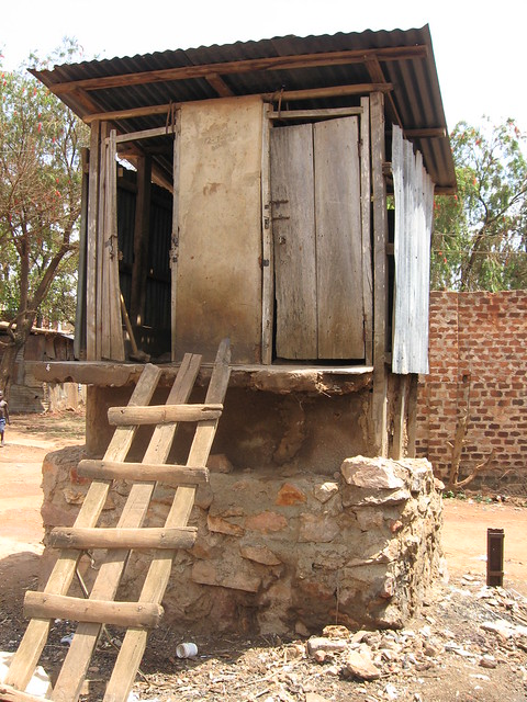 Typical Pit latrine in Kampala slums  Flickr  Photo Sharing