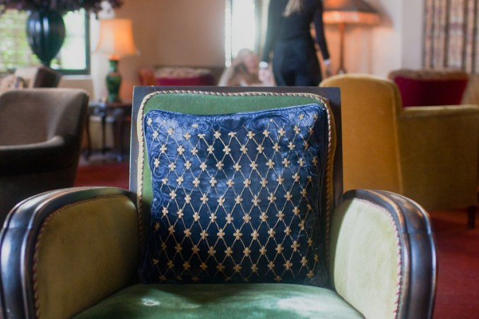 Chair in lobby at Chateau Marmont by Jackie Alpers