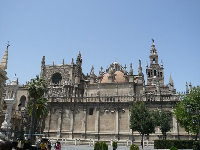 La Cathédrale de Seville en Andalousie vue de l'extérieur