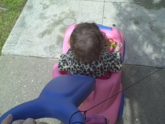 Maddie in her car