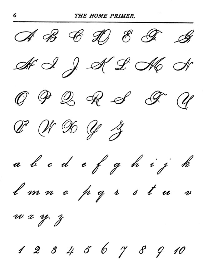 cursive-letters from the Karen Whimsey in the public