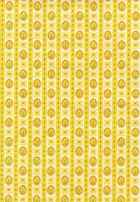 Vintage yellow wallpaper | In real life, the wallpaper is ...