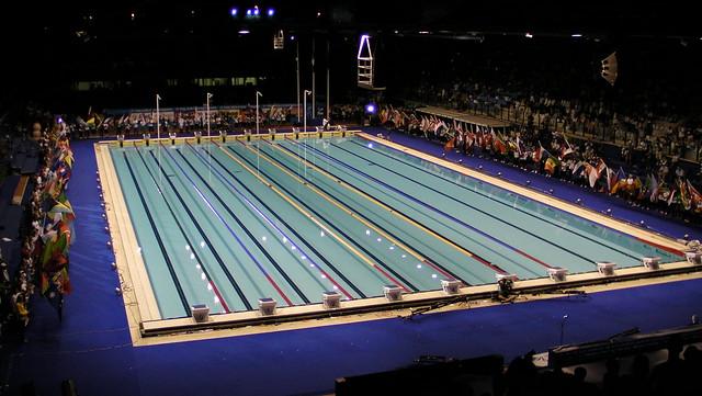 Flags around the Roma 2009 Pool