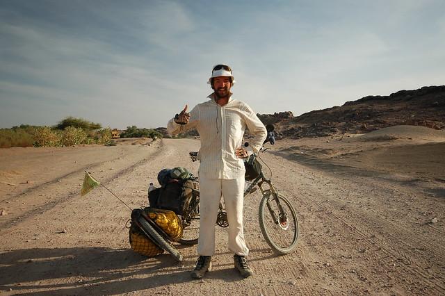 Me posing cheesily in Sudan