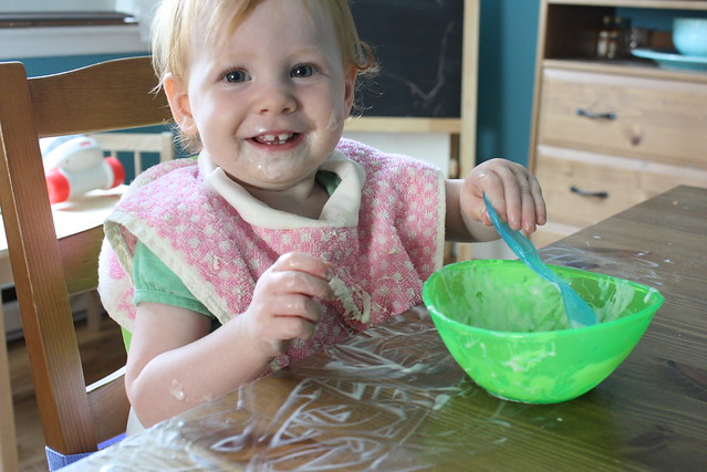 Yogurt = finger paint!