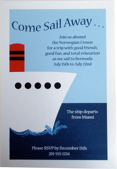 Party Invitation Nautical Cruise Ship Boat Flickr