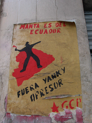 north Quito (near Parque El Ejido), Ecuador: Yankee out flyer [2007-2008]
