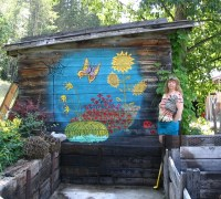 Bright & cheery mural on a garden shed. | Flickr - Photo ...